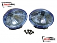 "Streetwize 12V 3.5"" x 2.5"" Ice Blue Halogen Lamps SWDL3"