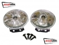 "Streetwize 12V 3.5"" x 2.5"" Clear Halogen Lamps SWDL5"