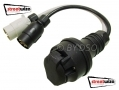 Streetwise 13 Pin to 7 Pin Conversion Lead For Caravan Connection SWTT45