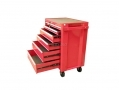 Trade Quality 6 Drawer Heavy Duty Double Roller Bearing Tool Cabinet with Wheels TB061