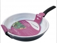 Prima 24cm Non stick Forged ceramic Frying Pan Black in white  15208C