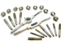 "Trade Quality 24 Piece UNC UNF Tap and Die Set 1/16"" to 1/2"" with Metal Case TP103 *Out of Stock*"