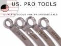 US PRO 5 Piece Pulley Holding Wrench Spanner Set E13 to E19 US5817 *Out of Stock*