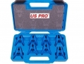 US PRO Trade Quality 8pc Shark Type Hose Stoppers to Fit Hose Sizes 5/16, 3/8 and 1/2 inch US5821