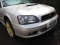 "Subaru B4 STI Twin Turbo Silver with Mille Miglia T12 18"" Gold Alloys Non Runner Spares or Repairs V116RBK"