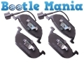 VW Beetle 98 -11 Convertible 03-11 Brake Pads Set with Wear Indicator for ATE-TEVES 1J0698151D
