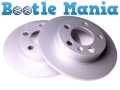 VW Beetle 98 -11 Convertible 03-11 Rear Brake Discs Solid Coated x 2 1J0615601