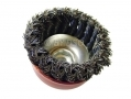 Professional 80mm M14 Knotted Cup Wire Brush Paint Rust Removal WB004