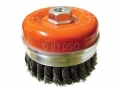 Professional 100mm M14 Knotted Cup Brush Paint Rust Removal WB008