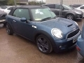 2009 Mini Cooper S Convertible Blue with Black Hood Full Black Leather Interior 17 inch Alloys Good Spec 74,000 miles WR09CKA