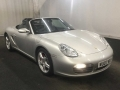 2007 Porsche Boxster S 3.4 Roadster Manual Silver Black Hood Black and Extended Leather 49,000 FSH 2 Keys WU07WLH