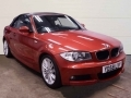 2008 BMW 120i M Sport Convertible Manual Air Con Sedona Red with Black Hood Full Black Sport Leather Heated Seats 69,000 Miles FSH YD58LVY