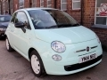 2014 Fiat 500 1.2 Pop Peppermint Green 22,000 miles FSH Excellent Condition YM14NEO