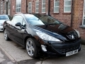 2009 Peugeot 308 CC 1.6 THP Petrol GT Convertible Manual Petrol Black with Black Leather 69,000 1 owner FSH YX59XWW