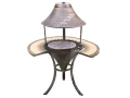 GardenKraft Cast Iron Chimnea Patio Heater Fire Pit with Mosaic Serving Table BML19730
